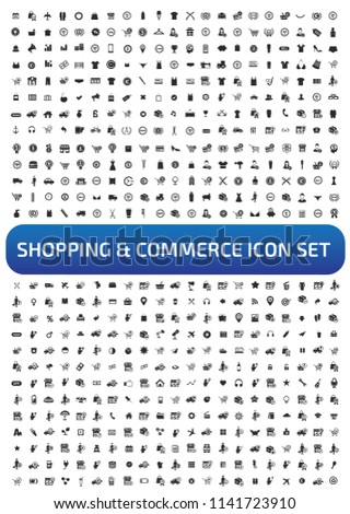 Commerce and shopping vector icon set #1141723910