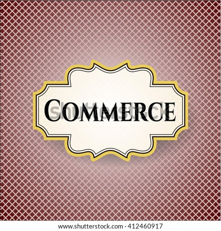 Commerce colorful card