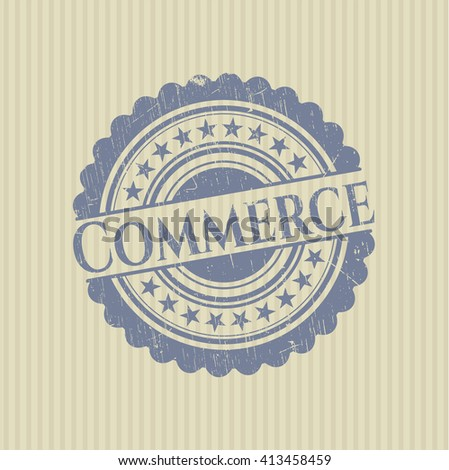 Commerce grunge seal