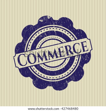 Commerce rubber grunge stamp