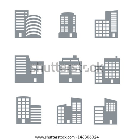 Commercial building icons