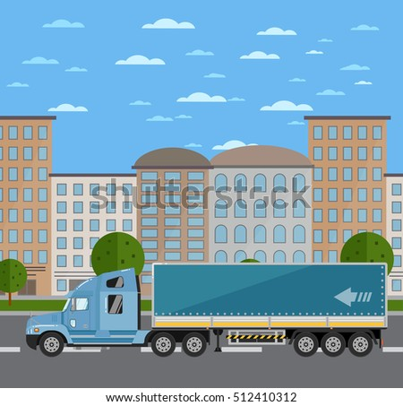 commercial freight truck on