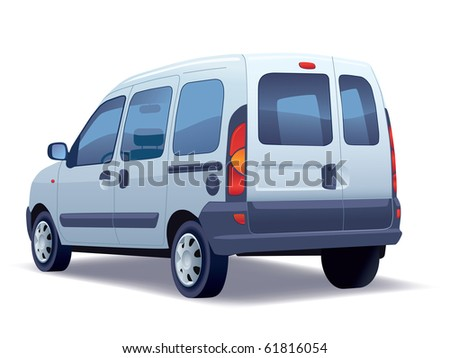 Commercial vehicle - minivan on a white background.