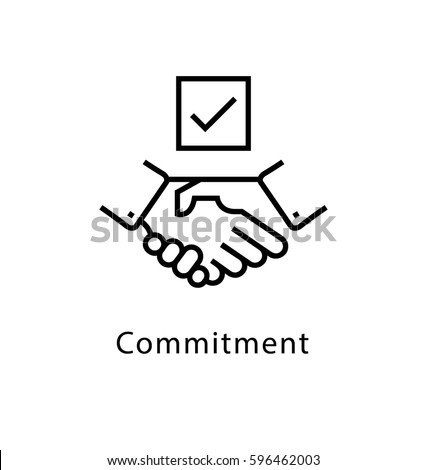 Commitment Vector Line Icon