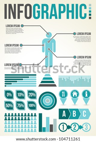 Common Infographic Template with graphs