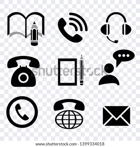 commumication contact icons vector set, communucation computer and mobile phone icons set, sign smart telephone technology