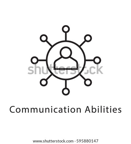 Communication Abilities Vector Line Icon