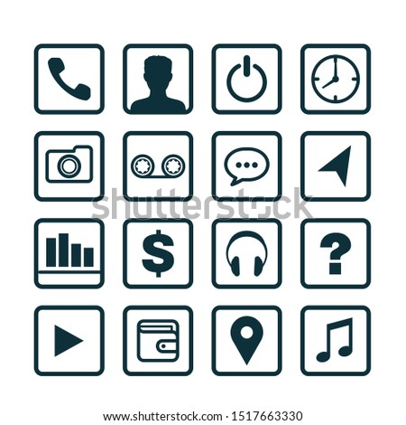 Communication and business icons collection. Vector collection.