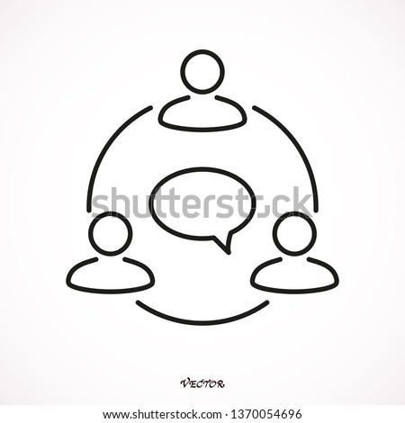 Communication black flat icon isolated on white background