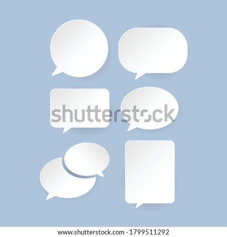 Communication bubbles in paper style or Comic speech bubbles