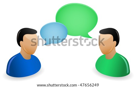 Communication Concept. A bunch of people having a conversations.