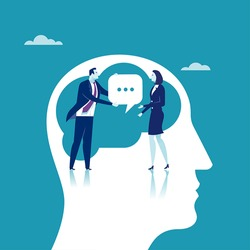 Communication. Concept business illustration