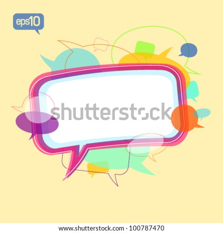 Communication concept design template with speech bubbles signs.