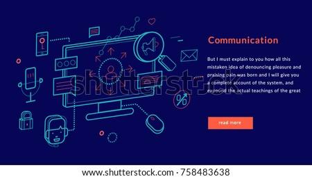 Communication Concept for web page, banner, presentation. Vector illustration