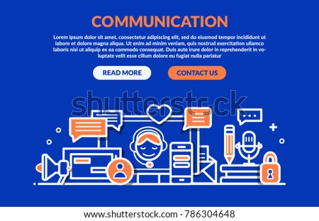 Communication Concept for web page, banner, presentation. Vector illustration #786304648