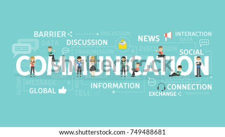 Communication concept illustration. Idea of discussion, interaction and exchanging.