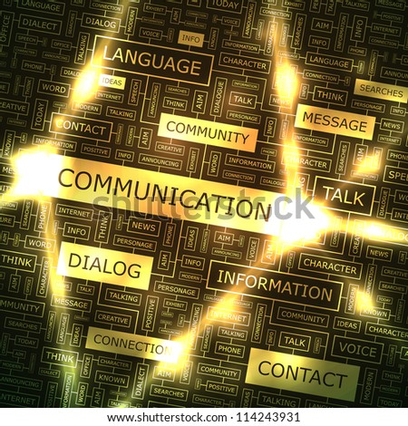 COMMUNICATION. Creative background.