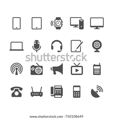 Communication device glyph icons
