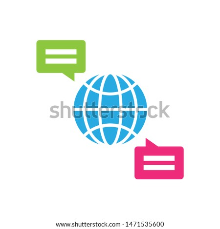 communication icon. flat illustration of communication - vector icon. communication sign symbol