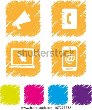 Communication icon set-3