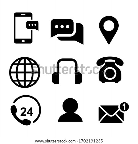 Communication icon set. Contact us icon vector illustration