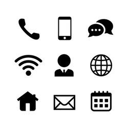 Communication icon set. Website icon vector illustration