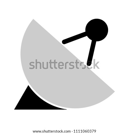 communication icon. wireless technology connection - vector satellite illustration