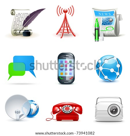 Communication icons | Bella series
