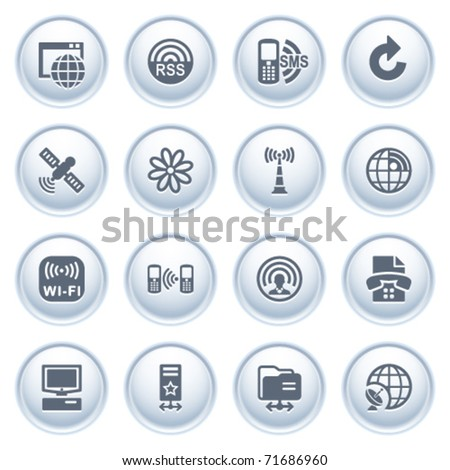 Communication icons on buttons, set 2