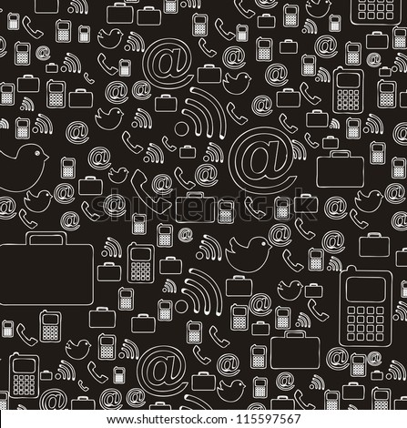 communication icons over black background. vector illustration