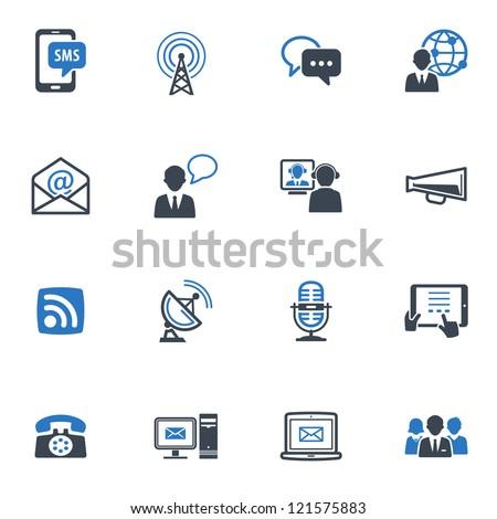 Communication Icons Set 1 - Blue Series