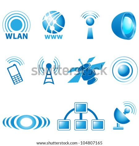 communication icons - vector illustration