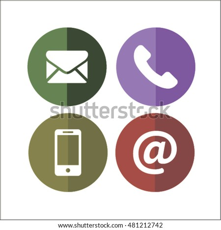 Communication Icons with White Background. vector background