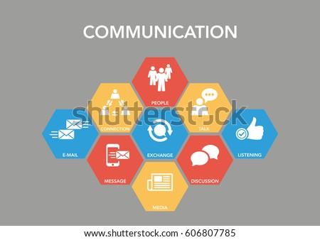 Communication Infographic Icon Set