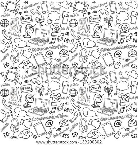 Communication & internet seamless background