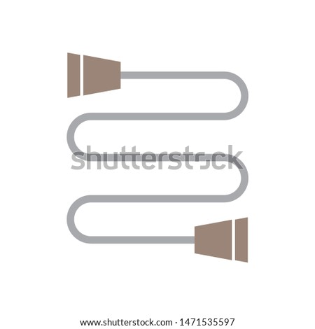 communication jack icon. flat illustration of communication jack - vector icon. communication jack sign symbol