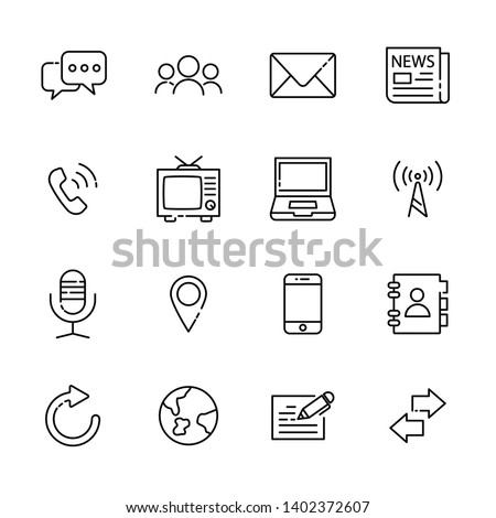 communication line icon set 4, vector eps10.