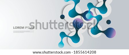 Communication network. Abstract geometric background. Social network. Business design. Polygon vector concept network connection and DNA atom