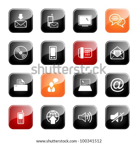 Communication - professional icons for your website, application, or presentation,eps10
