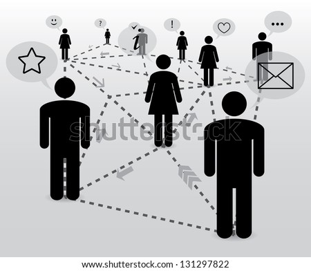 communication. social network. abstract concept. eps10