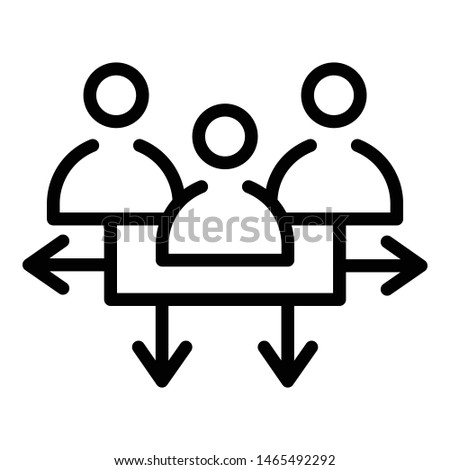 Communication target audience icon. Outline communication target audience vector icon for web design isolated on white background