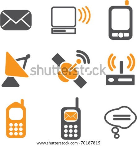 communication & technology signs. vector