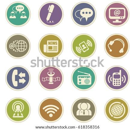 Shutterstock communication vector icons for user interface design