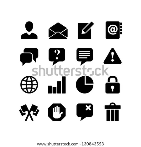 Communication. Web icon set