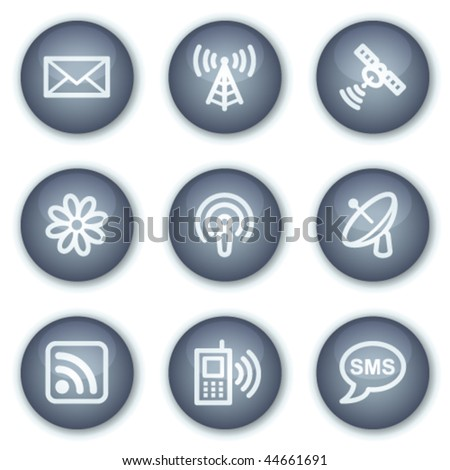 Communication web icons, mineral circle buttons series