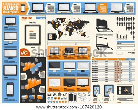 communication & web info graphics