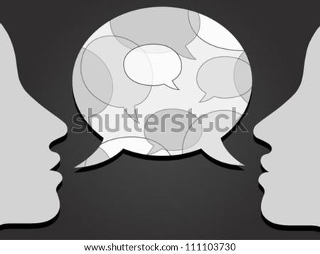 communication with speech bubbles pattern