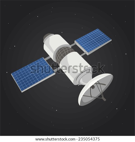 communications satellite in