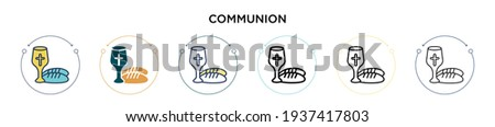 communion icon in filled  thin