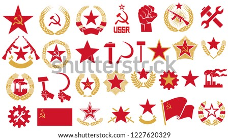 communism and socialism vector